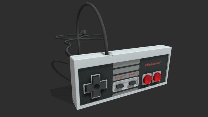 Nintendo nes controller 3D Model