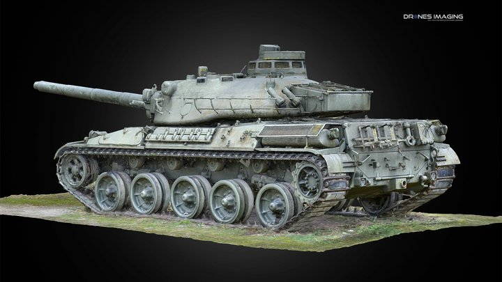 Amx-30 - French army Main Battle Tank 3D Model