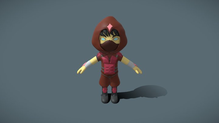 tiny assassin (red) 3D Model