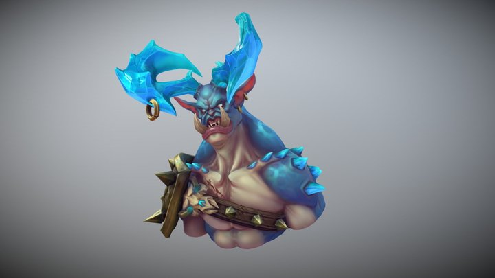 IceOgre #3dBustChallenge 3D Model