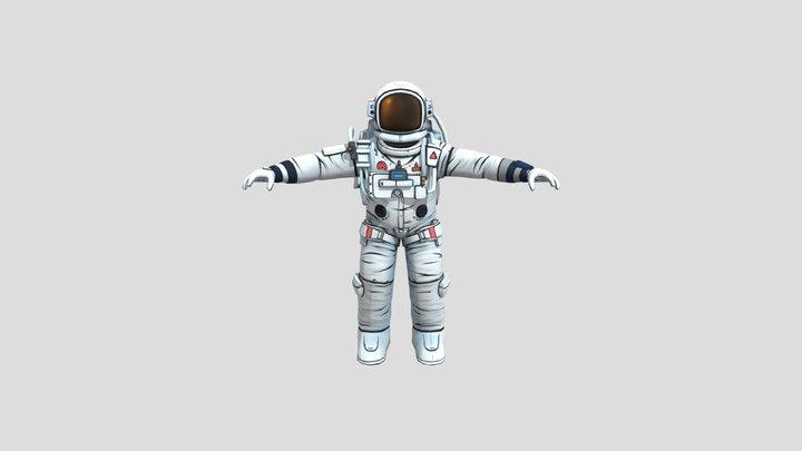 Cosmonaute 3D Model