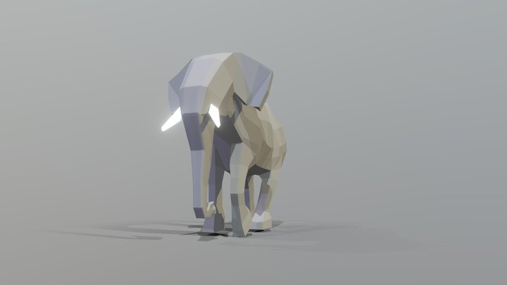 low_poly_elephant 3D Model