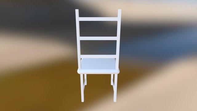 Basic wooden chair 3D Model