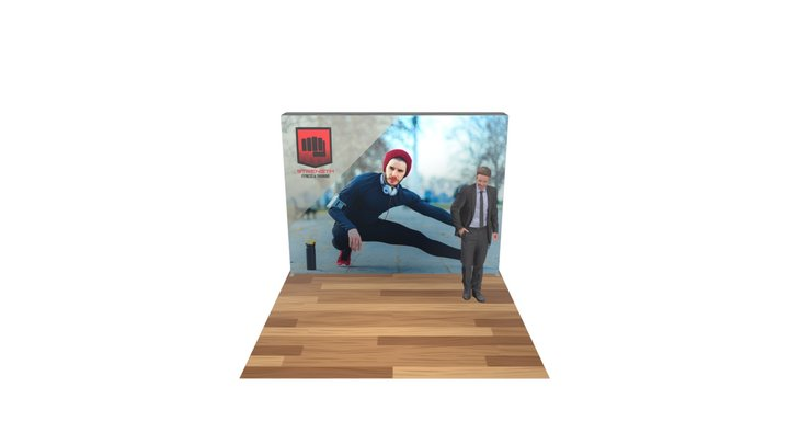 Lumiere 4x3 Double Sided Backlit Display 3D Model