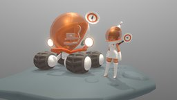 astronaut girl 3D Model
