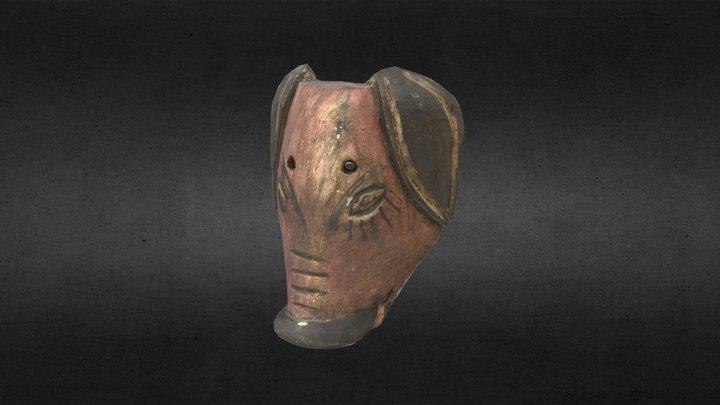 Maschera in legno 3D Model
