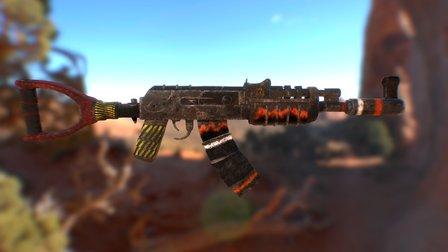 Ak47 - Fire Hazard 3D Model