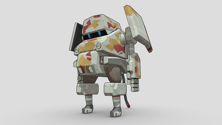 Natchin Tank Desert Type 3D Model
