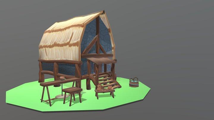 World of DAE Villages 3D Model