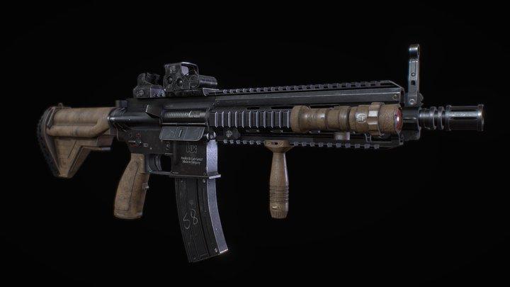 Heckler & Koch HK416 (Assault Rifle) 3D Model