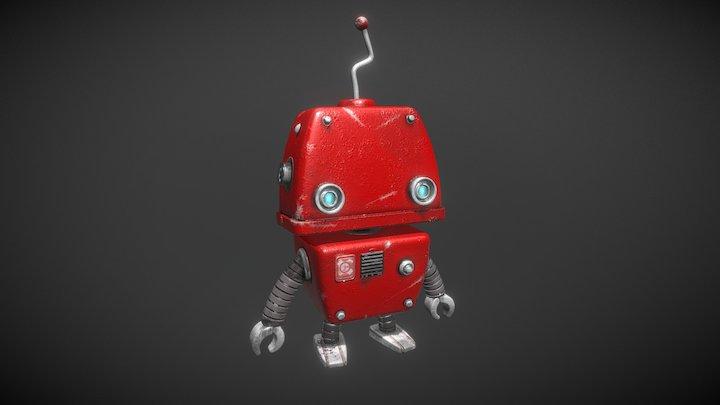Cartoon Robot Guy 3D Model
