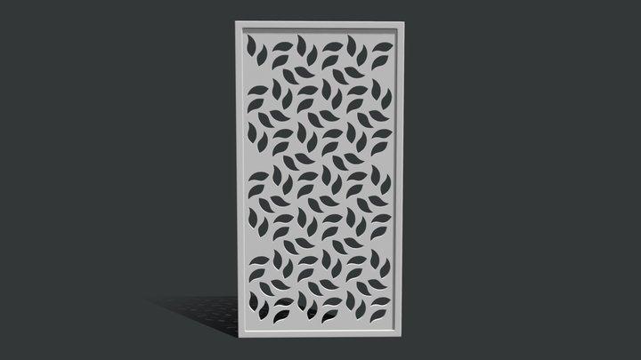 Decorative Seamless Floral Pattern 1 3D Model