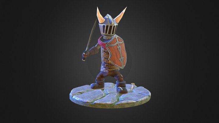 The Little Knight - Version 2 3D Model