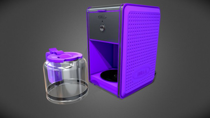 Bella Dots Collection Coffee Maker PBR 3D Model