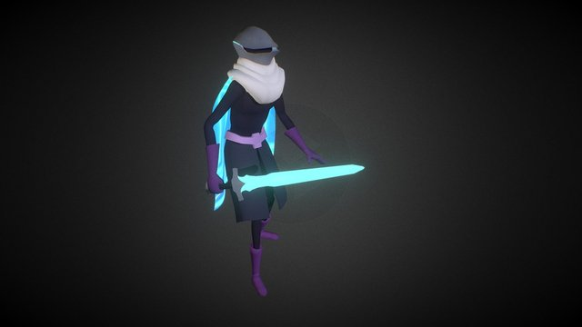 Video Game Knight 3D Model