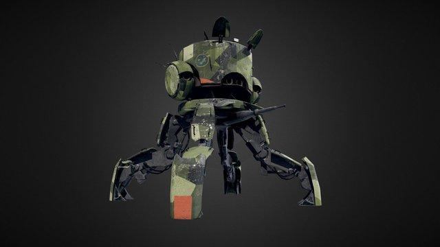 Swedish Military Walker (Stålenhag) 3D Model