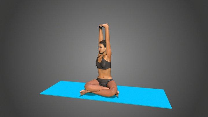 Yoga Pose Parsva Parvatasana In Sukasana 3D Model