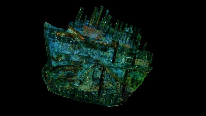 Swash Channel Wreck Stern 3D Model