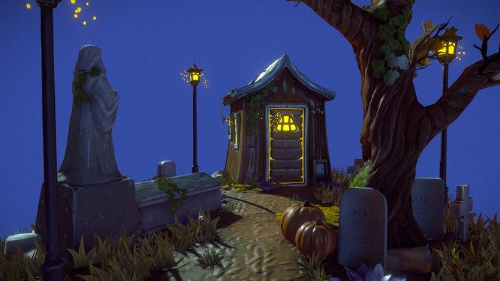 Cabin at the Graveyard 3D Model