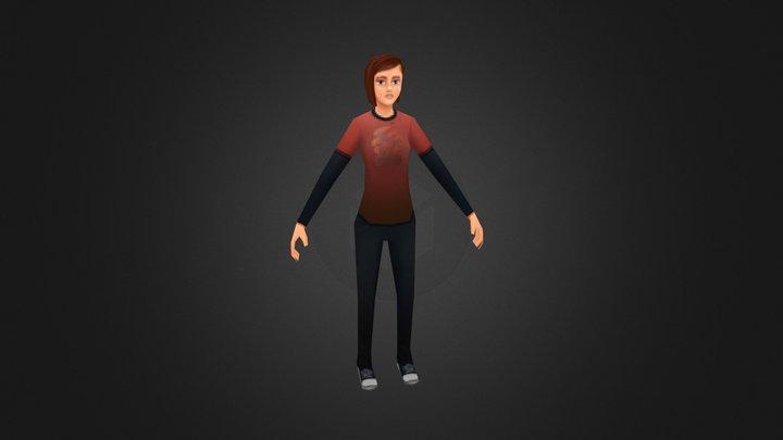 VG Remix | The Last of Us | Ellie 3D Model