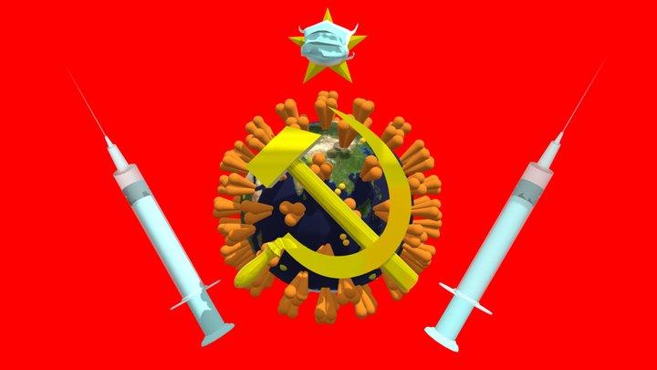 Coronavirus the communist virus 3D Model