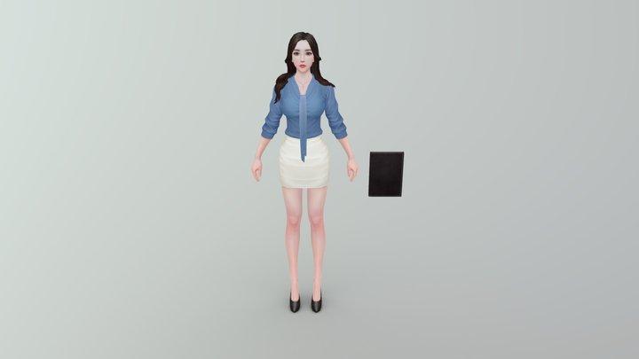 Female Secretary 3D Model