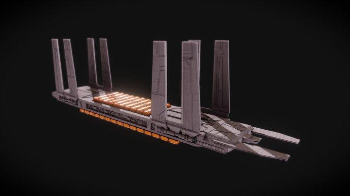 Star Wars Eta-class supply barge 3D Model