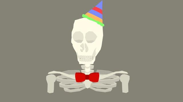 30Days3D Day 11: Party Skeleton 3D Model