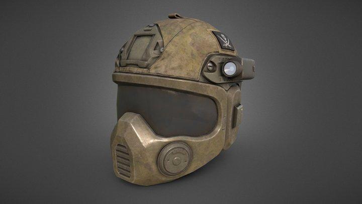 Special Forces Combat Helmet 3D Model
