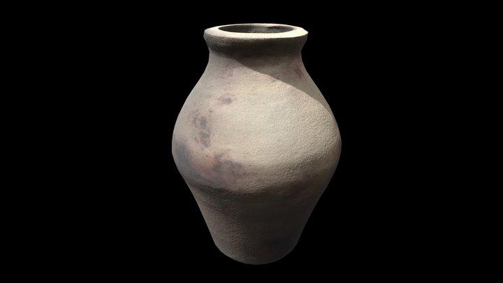 Outdoor clay flowerpot vase - 3D scan 3D Model