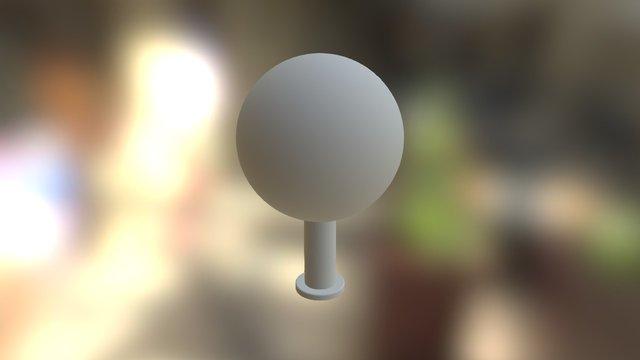 "6"" Target Sphere 3D Model"