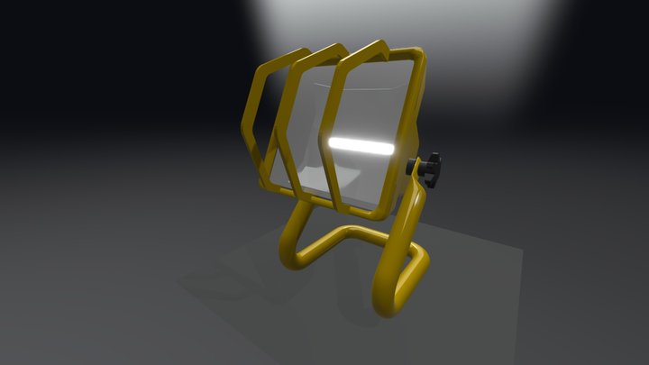 Halogen with grill from memory 3D Model