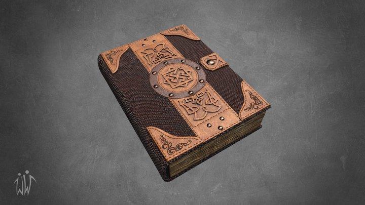 Vintage Magic Book 3D Model