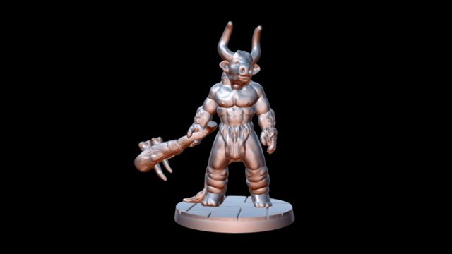 Asterion the Minotaur 3D Model