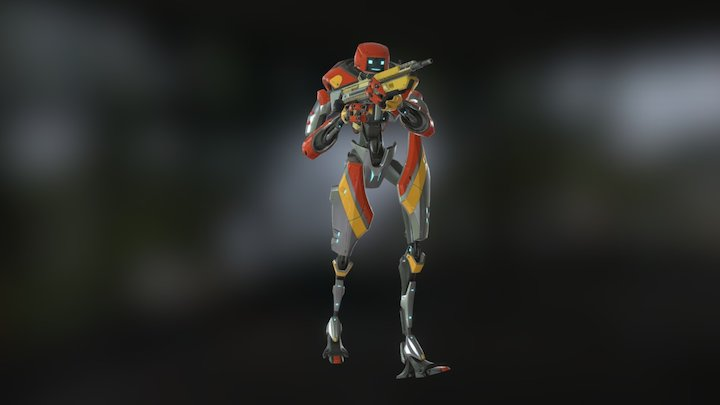 FPS Robot Character 3D Model
