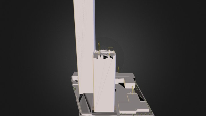 WTC Under Construction 3D Model