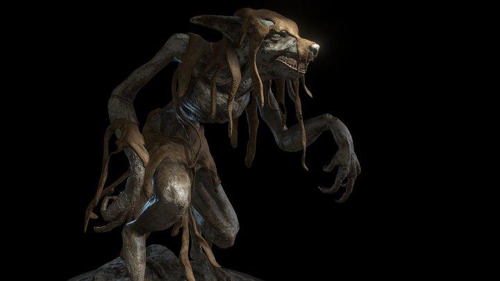 werewolf - sculpture 3D Model