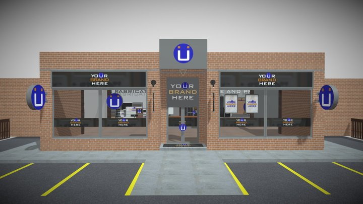 Virtual Showroom 3D Model