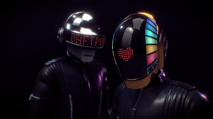 Daft Punk 1993 - 2021 3D Model