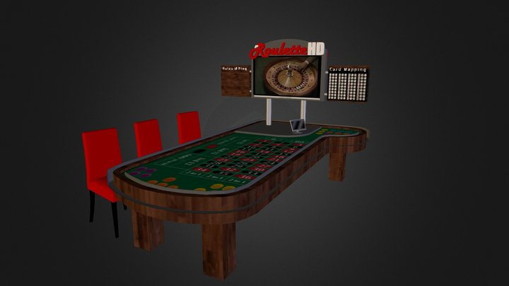 Roulette Table Sign 3D Model