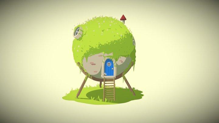 Grass Hut 3D Model