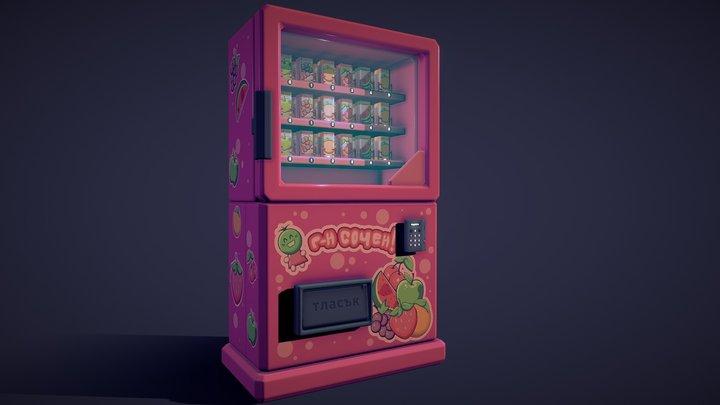 Mr Juicy! Vending Machine 3D Model