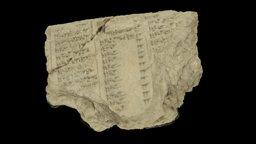Ancient Mesopotamian Stars & Planets Tablet 3D Model