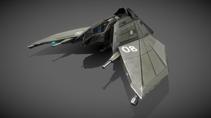 CDF Heavy Starfighter (Remastered) 3D Model