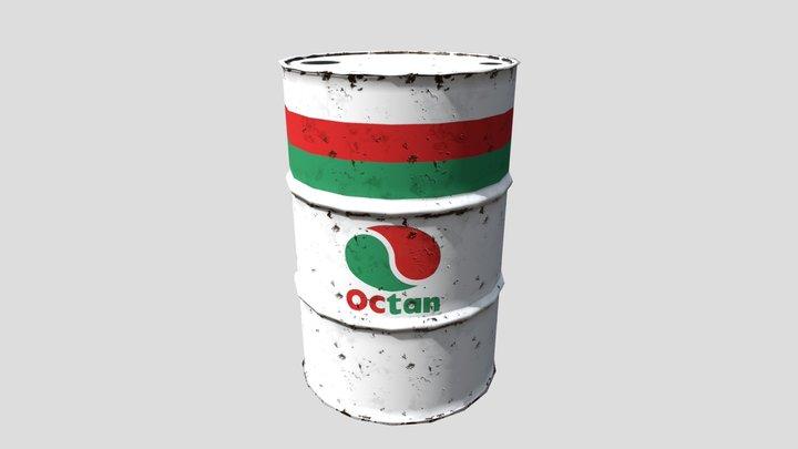 Octan Oil Barrel 3D Model