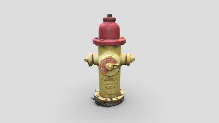 Fire Hydrant 1 -- Photogrammetry Asset 3D Model