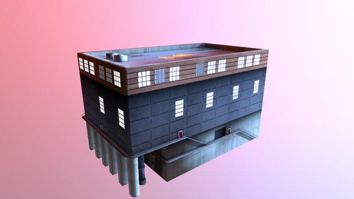 Water Intake Industrie Building 3D Model