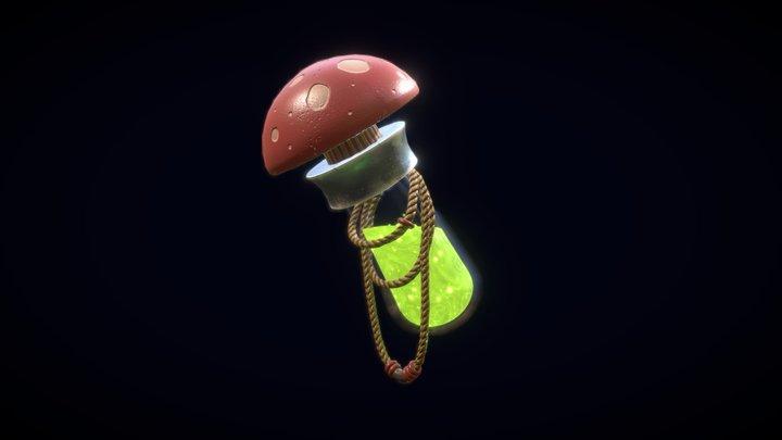 Mushroom Potion 3D Model
