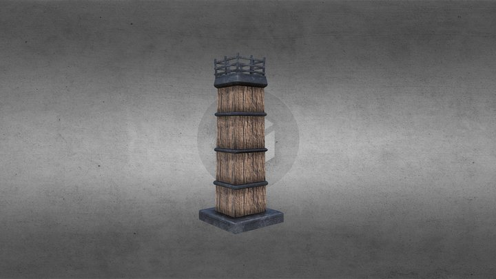 Torch Zelda Like 3D Model
