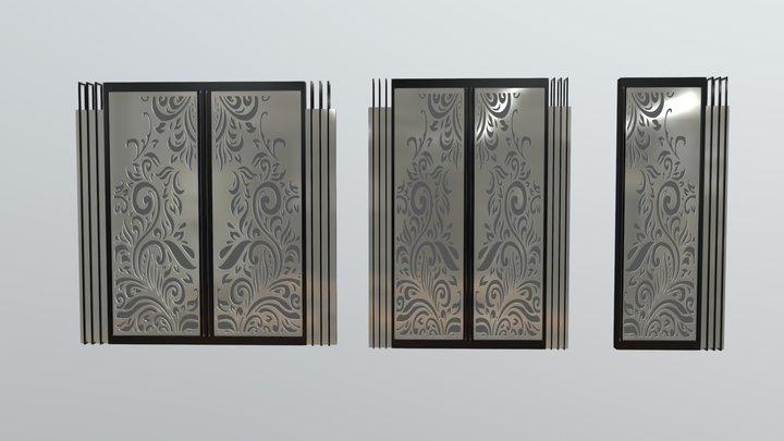 Home Door Classic Style 3D Model